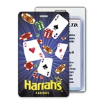 Lenticular luggage tag with Las Vegas casino Image