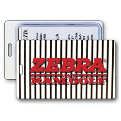 Lenticular luggage tag with black and white stripes Images