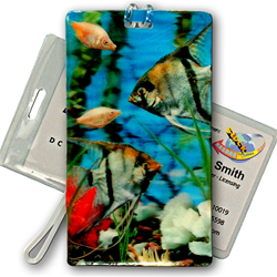 3D Lenticular Luggage Tag Weather Proof – Swimming Fish Design