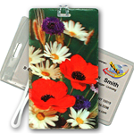 Lenticular Luggage Tag with Flowers Design