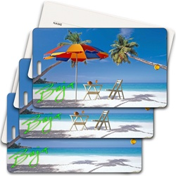 Lenticular privacy tag with palm trees Images