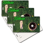 Lenticular privacy tag with PGA putter hits golf ball into hole, animation