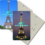 Lenticular privacy tag with Eiffel Tower Images