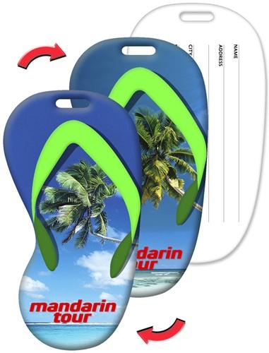 26484da8c Lenticular luggage tag with flip-flop sandal shaped