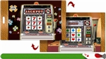Lenticular Luggage Tag Mailer with Animated 3D Jackpot Slot Machine in Casino Las Vegas