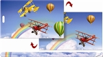 Lenticular Luggage Tag Mailer with Animated 3D Airplanes and balloons