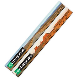 3D Lenticular Magnetic Strip Monument Valley Utah, wide open road, red clay rocks, plateaus, and tumbleweeds, flip