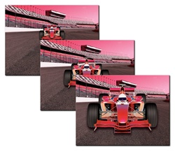 Flexible Rubber Magnet Indy race Formula One F1 car, enlarges as it speeds up, zoom