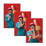 3D Lenticular Flexible Rubber Magnet Oscar Meyer weiner, hot dog company mascot puts hands forward, zoom