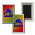 Lenticular Magnet in Acrylic Frame Red Yellow Blue Color changing
