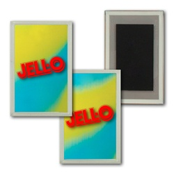 Lenticular Magnet Acrylic Frame Yellow Blue Green  color changing with