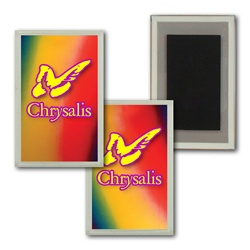 Lenticular Magnet in Acrylic Frame Multi Colors with red, yellow, blue, and green, color changing