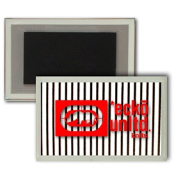 Lenticular Magnet Acrylic Frame with black and white stripes, animation