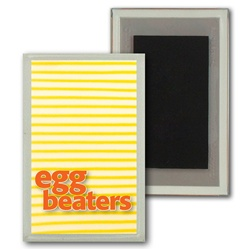 Lenticular Magnet Acrylic Frame with yellow and white stripes, animation