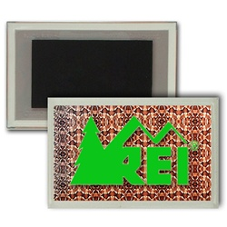 Lenticular Magnet in Acrylic Frame with snake skin print, color changing