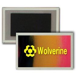 Lenticular Magnet Acrylic Frame with red, yellow, and black gradient, color changing