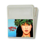 3D Lenticular magnetic clip with tropical Hawaiian hula girl winks, animation
