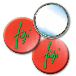 Lenticular mirror with red and white gradient, color changing