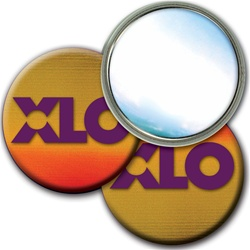 "Lenticular 3"" mirror with brown, yellow, and orange, color changing"