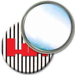 Lenticular mirror with black and white stripes, animation