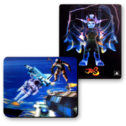 Lenticular mouse pad with custom design, Transformers optimus prime flies into the night, flip