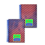 Lenticular 4 x 6 inches 3D notebook with American flag stars and stripes, red, white, and blue, color changing flip