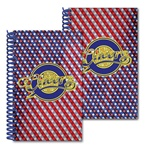 Lenticular 5 x 8 inches 3D notebook with American flag stars and stripes, red, white, and blue, color changing flip