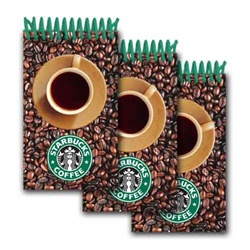 Lenticular mini notebook with Starbucks coffee cup spins around, animation
