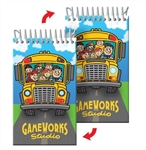 Lenticular mini notebook with school bus Prints