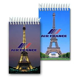 Lenticular mini notebook with Eiffel Tower in Paris, France, Europe at day and night, flip