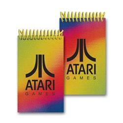Lenticular mini notebook with red, yellow, and blue, color changing