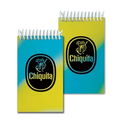 Lenticular mini notebook with yellow, blue, and green, color changing with