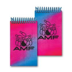 Lenticular mini notebook with red and blue gradient, color changing