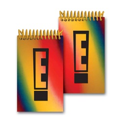 Lenticular mini notebook with red, yellow, blue, and green, color changing