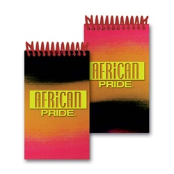 Lenticular mini notebook with red, yellow, and black gradient, color changing