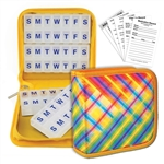 Pill Vitamin Organizer Rainbow Lattice Plaid