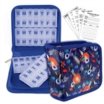 Pill Vitamin Organizer Blue Outer Space