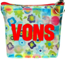 Lenticular zipper purse with cute flowers and circles, flip with