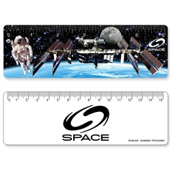 Lenticular Ruler with space station 3D image