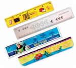 Lenticular ruler with custom design, Buzz Light Year Toy Story, Finding Nemo, depth
