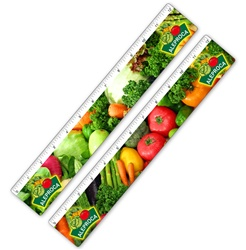 "Lenticular 12"" Ruler - Flip Effect, Assorted Veggies - from Lantor, Ltd. - Lenticular Printing"