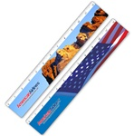 Lenticular ruler with Mount Rushmore North Dakota, United States of America USA flag stars and stripes, flip