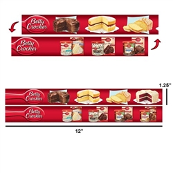 "Lenticular 3D Shelf Strips Custom Design 1.25""x12"""