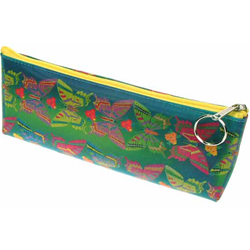 Lenticular pencil case with large rainbow butterflies, color changing