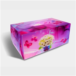 Lenticular Tissue Boxes 3D Printing, 8 x 5 x 3 inches