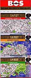 Boston, Massachusetts StreetSmart Mini Map Set by VanDam