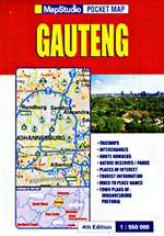 Gauteng, South Africa, Pocket Map by Map Studio [no longer available]