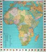 Africa, Political with Flags by Kummerly + Frey