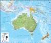 Australasia, Political, laminated by Maps International Ltd.