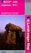 Anglesey and Mon, United Kindom, Landranger Map 114 by Ordnance Survey